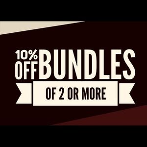 10% off 2 items when you bundle them together!